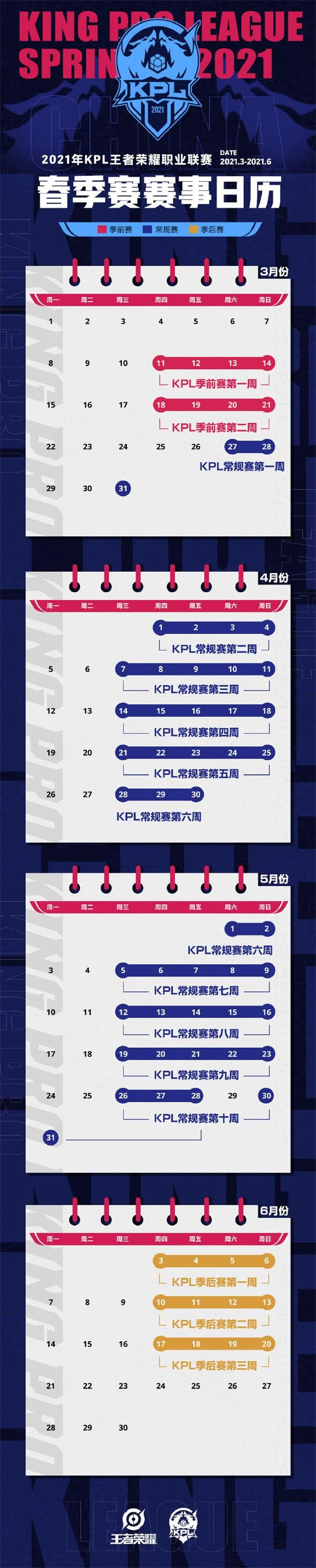 2021KPL春季赛赛程表一览